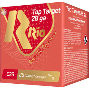 "RIO Ammunition Top Target 28 Gauge Ammunition 250 Rounds 2-3/4"" Shell #7.5 Lead Shot 3/4oz 1300fps"