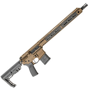 """Christensen Arms CA5Five6 AR-15 .223 Wylde Semi Auto Rifle 16"""" Barrel 30 Rounds M-LOK Free Float Hand Guard Collapsible Stock Bronze"""