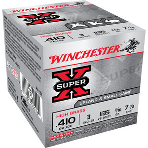 "Winchester Super X Game Load .410 Bore Ammunition 250 Rounds 3"" #7.5 Lead 0.6875 Ounce X4137"