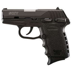 "SCCY CPX-1 Semi Auto Handgun 9mm Luger 3.1"" Barrel 10 Rounds Polymer Grip Thumb Safety Black CPX1CBFC"