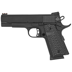"Rock Island Armory Rock Ultra CCO 1911 Semi Auto Handgun .45 ACP 4.25"" Barrel 7 Rounds Steel Frame G10 Grips Black"