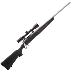 """Savage Axis XP 350 Legend Bolt Action Rifle with 3-9x40 Scope 18"""" Barrel 4 Rounds Detachable Box Magazine Synthetic Black Stock Stainless Barrel"""