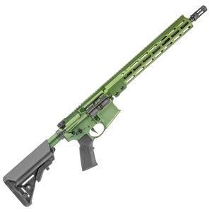 "Geissele AR-15 Super Duty SD556 5.56 NATO Semi Auto Rifle 14.5"" Barrel Pin/Welded 16"" OAL No Magazine 13.5"" Free Float M-LOK Hand Guard B5 SOPMOD Stock 40mm Green"