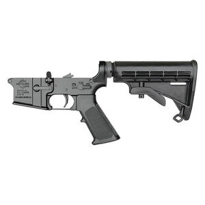 Rock River Arms LAR-15 Complete Lower Half Standard Trigger 6-Position Tactical Carbine Stock Multi Caliber Marked Black AR0901M
