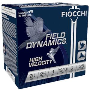 "Fiocchi Optima Specific High Velocity 20 Gauge Ammunition 2-3/4"" #6 Shot 1oz Lead 1220fps"
