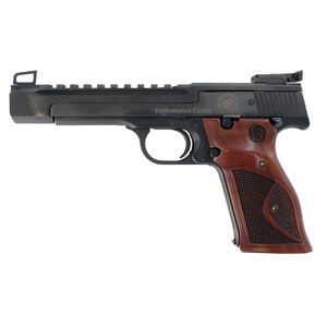 "S&W Model 41 Performance Center .22 LR Semi Auto Pistol 5.5"" Heavy Barrel 10 Rounds Adjustable Sights Integral Picatinny Rail Wood Target Grips Blued Finish"