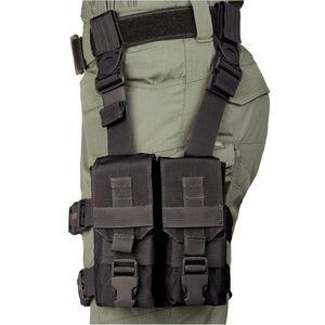"BLACKHAWK! M16 ""Y"" Thigh Rig Holds Four AR-15 Mags Black"