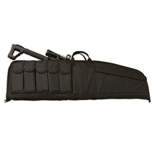 "Uncle Mike's Tactical Rifle Case Large 41"" Length Large Nylon Magazine Pouches Matte Black"