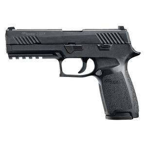 "SIG Sauer P320 Nitron Full Size Semi Auto Pistol 9mm Luger 4.7"" Barrel 17 Rounds SIGLITE Sights Modular Polymer Frame/Grip Matte Black Finish"