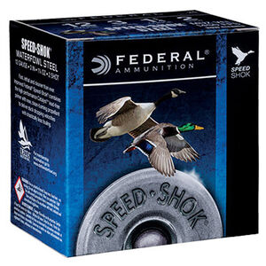 "Federal Speed-Shok Waterfowl 12 Gauge Ammunition 250 Rounds 3"" #BBB Steel Shot 1-1/4oz 1450fps"