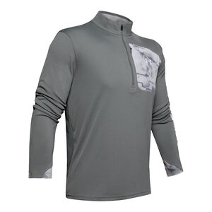 Under Armour Iso-Chill Shore Break 1/2 Zip Shirt, Small, Pitch Grey