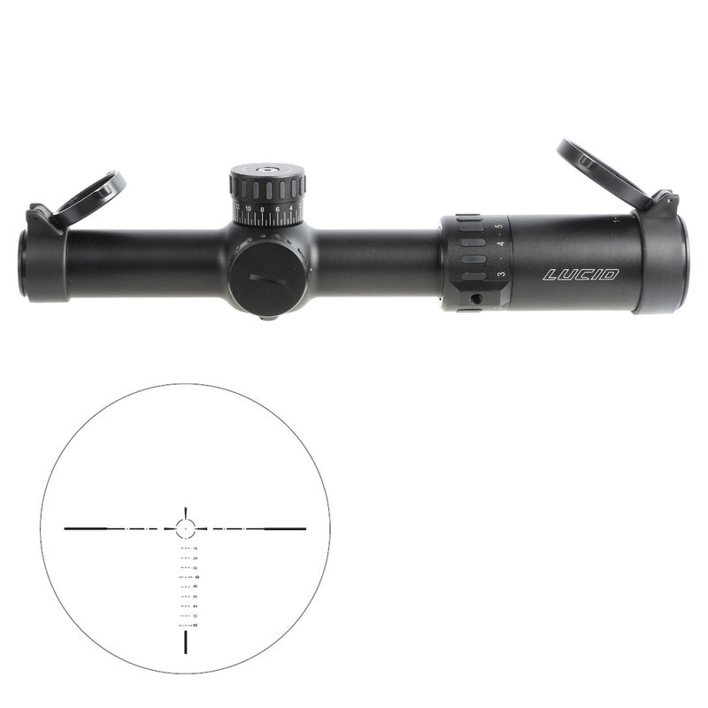 LUCID L7 Scope 1-6x24mm P7 Etched Glass Reticle 30mm Matte Black L-1624-P7