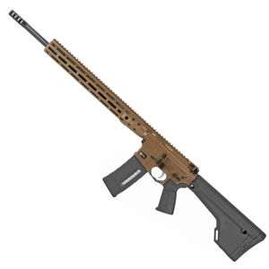 "LWRC DI AR-15 Semi Auto Rifle .224 Valkyrie 20"" Barrel 30 Rounds Modular Free Float M-LOK Rail Magpul MOE Rifle Stock Hard Coat Anodized Finish Burnt Bronze"