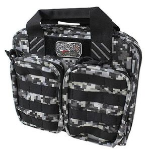 G Outdoors Tactical Double +2 Pistol Case Gray Digital Camo