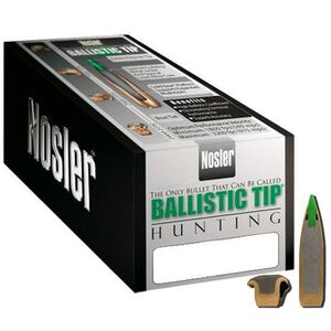 "Nosler 6mm Caliber (.243"" Diameter) 95 Grain Spitzer Purple Ballistic Tip Hunting Bullet 50 Count 24095"
