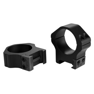 Warne Maxima Horizontal Fixed Attach Weaver/Picatinny Style Scope Ring 30mm Tube Medium Height Matte Black Finish