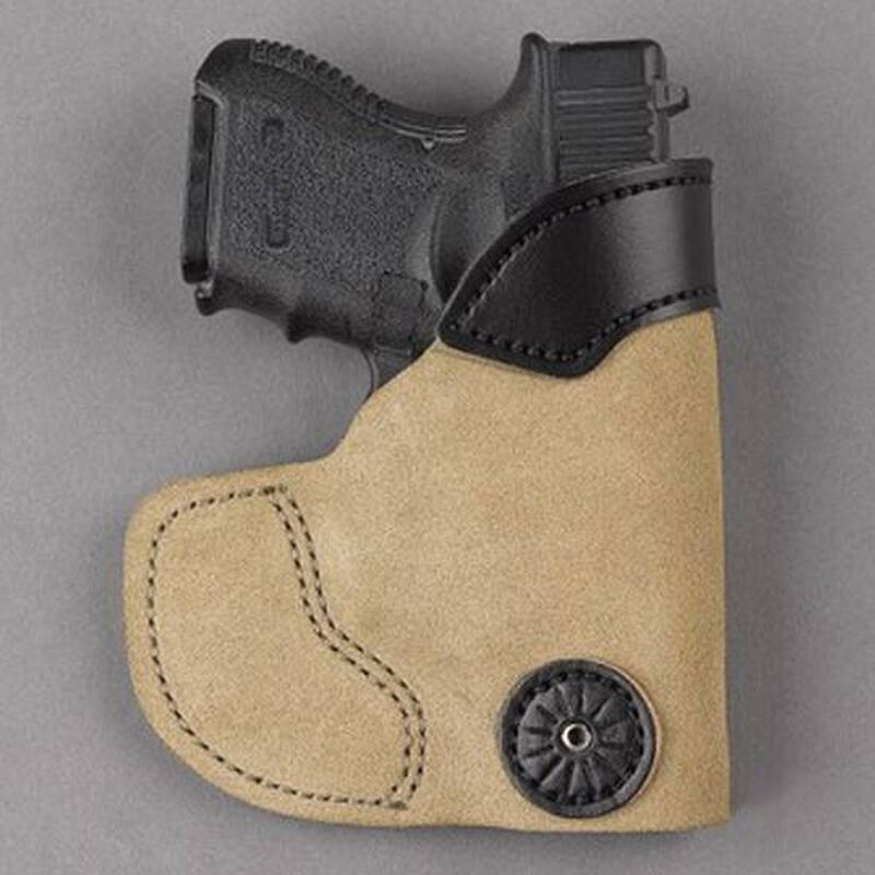 Desantis Pocket-Tuk Pocket Holster Small/Medium Autos With Laser Right Hand Leather Tan 111NAU4Z0