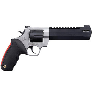"""Taurus Raging Hunter .44 Mag DA/SA Revolver 6.75 """" Ported Barrel 6 Rounds Adjustable Rear Sight Picatinny Top Rail Rubber Grip Two Tone Stainless/Black"""