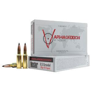 Nosler Varmageddon 6.5 Grendel Ammunition 20 Rounds 90 Grain Nosler Varmageddon Polymer Tipped Flat Base Projectile 2800fps
