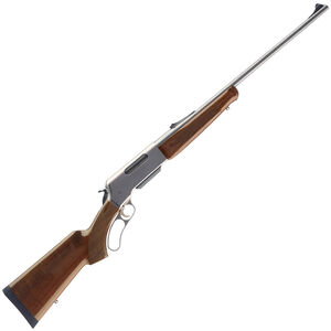 """Browning BLR Lightweight Stainless Lever Action Rifle .300 Win Mag 24"""" Barrel 3 Round Box Magazine Walnut Stock Nickel/Stainless Finish"""