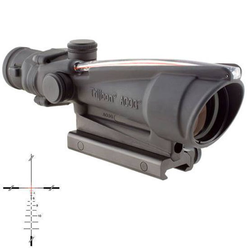 Trijicon ACOG TA11J-308 Riflescope 3.5x35 Illuminated Red Crosshair .308 Ballistic Reticle 1/3 MOA Aluminum Matte Black with TA51 Mount TA11J-308
