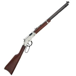 "Henry Silver Eagle Lever Action Rifle .22 WMR 20"" Octagonal Barrel 12 Rounds Nickel Engraved Receiver  Walnut Stock Blued H004SEM"