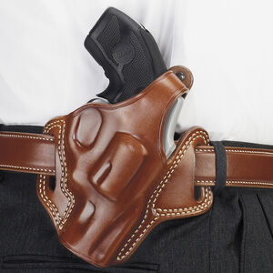 """Galco Fletch High Ride Belt Slide Holster S&W J Frame 2"""" Barrel and Similar Right Hand Leather Tan"""