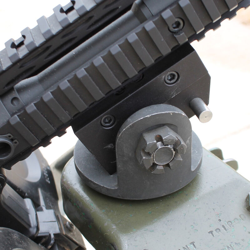 KNS Precision Picatinny Rail to .30 Pintle/M60 Adapter Aluminum Black ADAPTOR 30