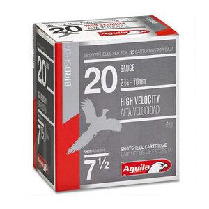 "Aguila Birdshot HV 20 Ga 2.75"" #7.5 Lead 1oz 250 Rounds"