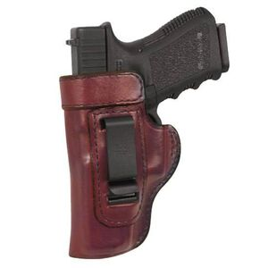 """Don Hume H715M 4"""" Taurus PT145/PT111 Millenium Pro Clip On Inside the Pants Holster Left Hand Leather Brown"""