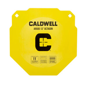 """Caldwell AR500 13"""" Octagon Steel Plate Target Yellow 1116695"""
