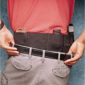 "DeSantis Small Handgun Belly Band Holster Nylon Elastic Size XL 44"" to 50"" Waist Ambidextrous Black 060BJG4Z0"
