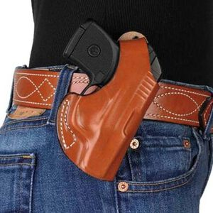 DeSantis 012 Ruger LCP, Keltec P3AT The Maverick Belt Holster Right Hand Leather Black