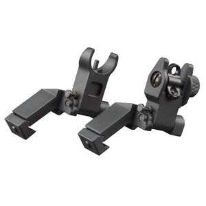 AIM Sports AR Low Profile 45 Degree Flip Up Sight Set Aluminum Black MT45FS