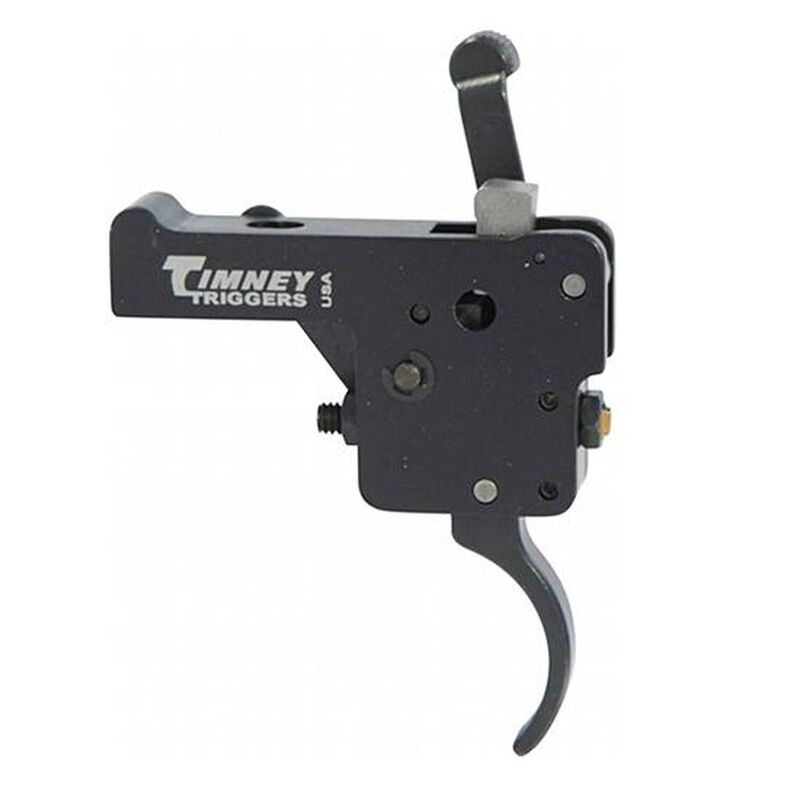 Timney Trigger for Remington Model 7 with Safety Curved Trigger Shoe Adjustable from 1.5 LBS to 4 LBS with 3 LB Default Aluminum Black Finish
