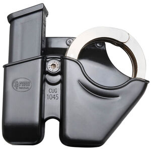 Fobus Handcuff/Magazine Combo Pouch Fits Double Stack .45 Right Hand Roto Paddle/Belt Polymer Black