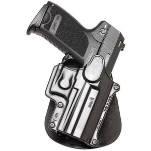 Fobus Holster H&K USP/Ruger SR9,SR40/Walther PPS M2 Right Hand Paddle Attachment Polymer Black