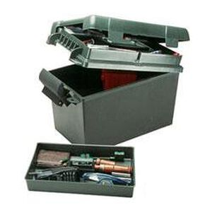 """Sportsmen's Plus Utility Dry Box 18.25""""x13""""x15.25"""" Lift-Out Tray Padlock Tabs Forest Green"""