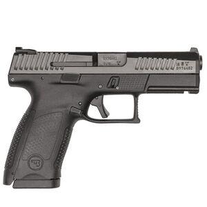 "CZ P-10 C 9mm Semi Auto Pistol 4.02"" Barrel 15 Rounds Reversible Magazine Catch Fixed 3 Dot Sights Polymer Frame Matte Black Finish"