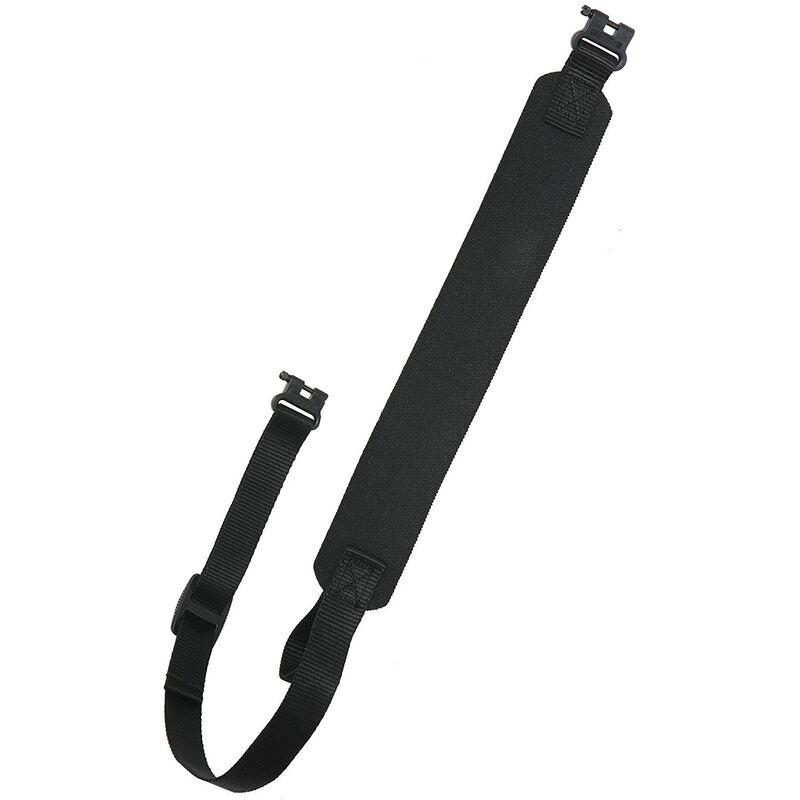 Rifle/Shotgun Sling Neoprene Leather Trim Black
