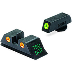 Meprolight Tru-Dot Fixed Night Sights GLOCK 19/23/32/38 Green/Orange Steel 10224O
