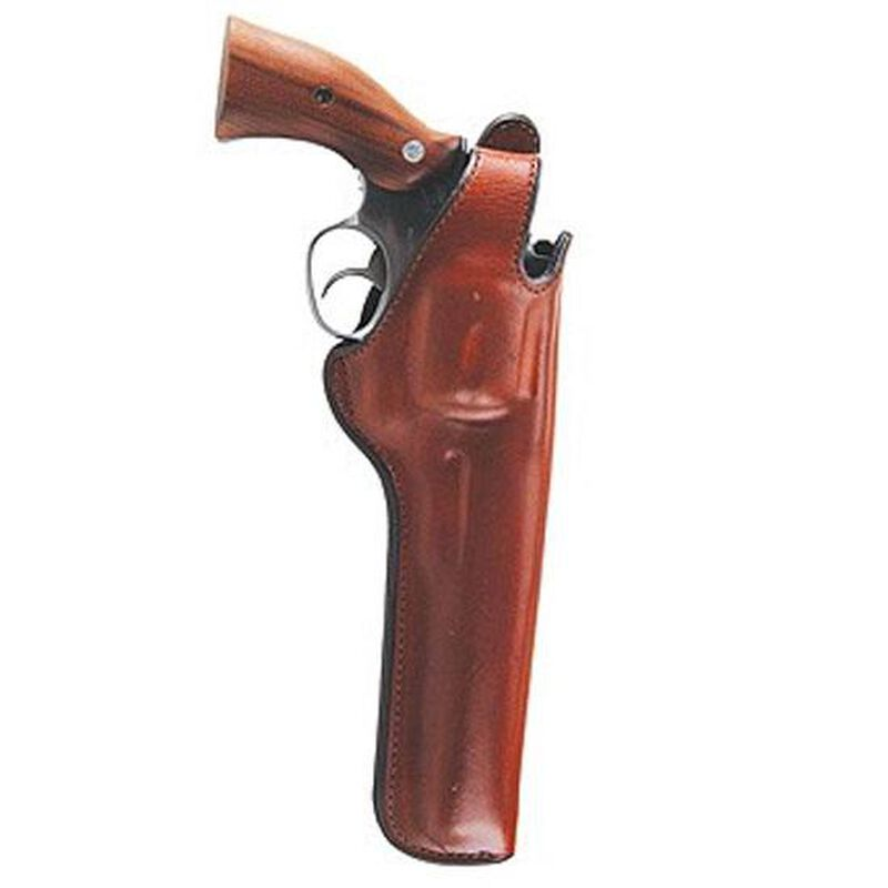"""Bianchi 5BHL Thumbsnap Holster Colt Python, Ruger GP100, S&W K, L-Frame, Taurus 66 6"""" Right Hand Barrel Suede Lined Leather Tan"""