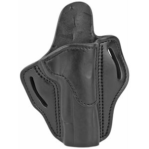 1791 Gunleather Open Top Multi-Fit OWB Belt Holster for Full Size 1911 Semi Auto Models Right Hand Draw Leather Stealth Black