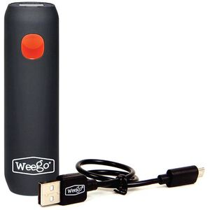 "Weego Tour 2600 Rechargeable Battery Pack, 12"" Micro USB Cord, Black"