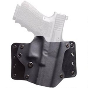 BlackPoint Leather WING OWB Holster GLOCK 43 Right Hand Leather/Kydex Hybrid Black