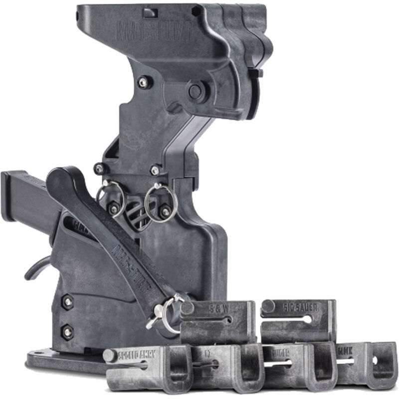 MagPump 9mm Double Stack Magazine Loader 9mm Luger 50 Round Hopper Feed Polymer Housing Matte Black