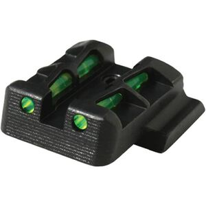 HiViz LITEWAVE Fiber Optic Rear Sight For GLOCK 10mm/.45 Red/Green Steel GLLW19
