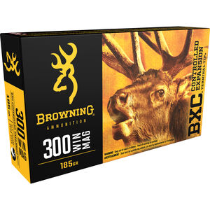 Browning BXC .300 Winchester Magnum Ammunition 200 Rounds BXC 185 Grains B192203001