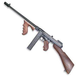"Auto-Ordnance Thompson 1927A-1 Deluxe Semi Auto Carbine .45 ACP 16.5"" Finned Barrel 20 Round Stick Magazine Blade Front Sight Walnut Stock/Grip Blued Finish"
