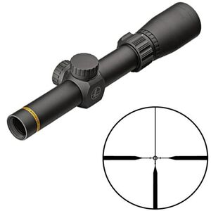 "Leupold VX-Freedom 1.5-4x20 Riflescope Pig Plex Non-Illuminated Reticle 1"" Tube .25 MOA Adjustments Finger Click Turrets Second Focal Plane Matte Black Finish"